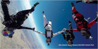 All-women vertical skydiving formation