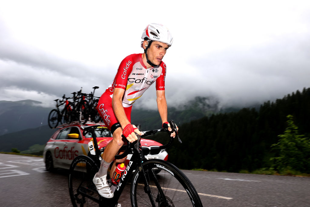 LE GRAND BORNAND FRANCE JULY 03 Guillaume Martin of France and Team Cofidis during the 108th Tour de France 2021 Stage 8 a 1508km stage from Oyonnax to Le GrandBornand LeTour TDF2021 on July 03 2021 in Le Grand Bornand France Photo by Michael SteeleGetty Images