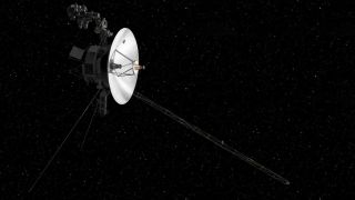 Here, an illustration of the interstellar spacecraft Voyager 2.