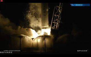 SpaceX Falcon 9 Rocket Launches AsiaSat 8 Satellite, Aug. 5, 2014