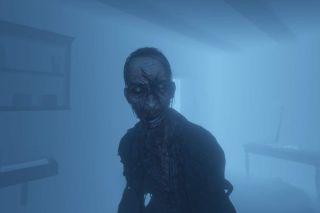 Phasmophobia ghost closeup