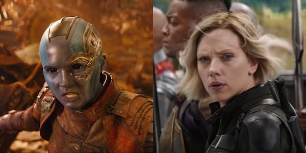 Nebula and Black Widow in Avengers: Endgame