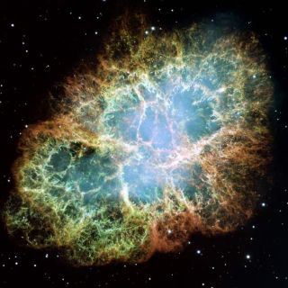 Intricate Crab Nebula Poses for Hubble Close-Up