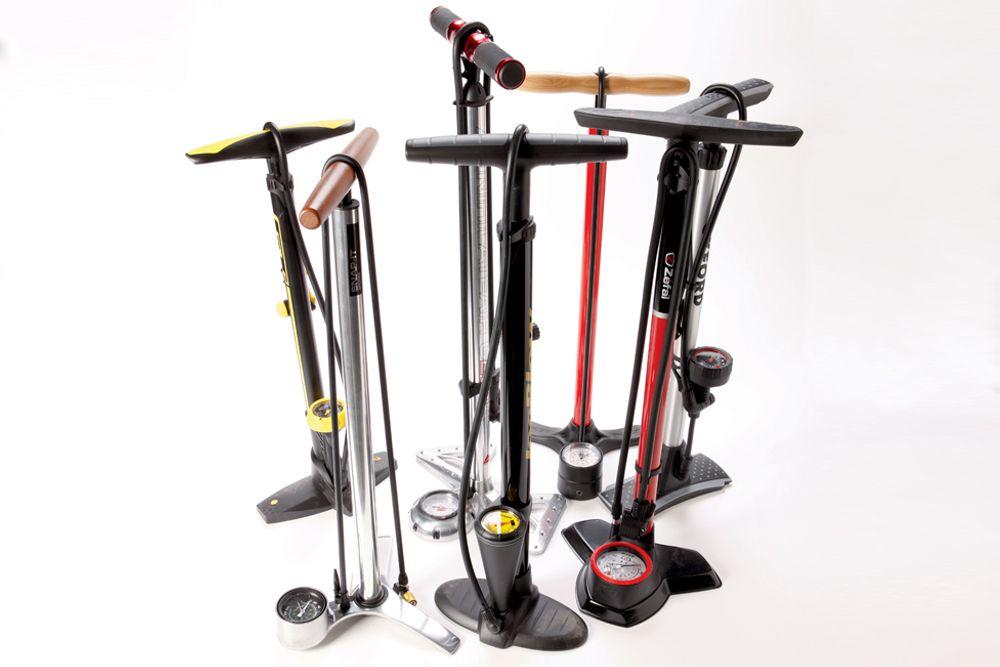 Dunlop Bicycle Floor Pump with Pressure Gauge for All Valves Air Pump