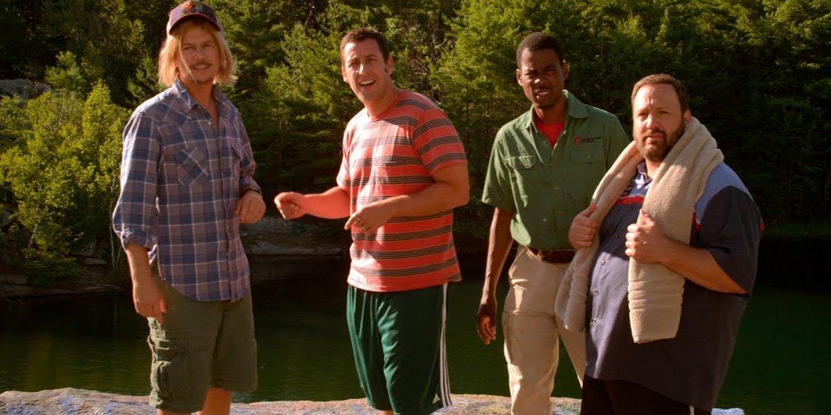 Grown Ups 2 David Spade, Adam Sandler, Chris Rock, and Kevin James hit the lake