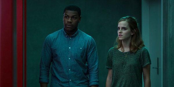 John Boyega and Emma Watson in The Circle