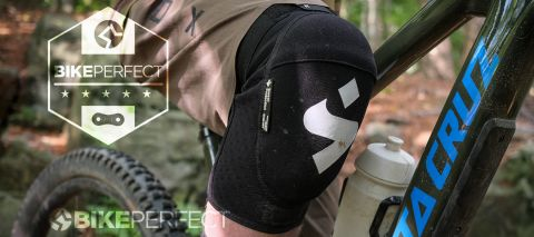 Sweet Protection Knee Pad with a five star review badge
