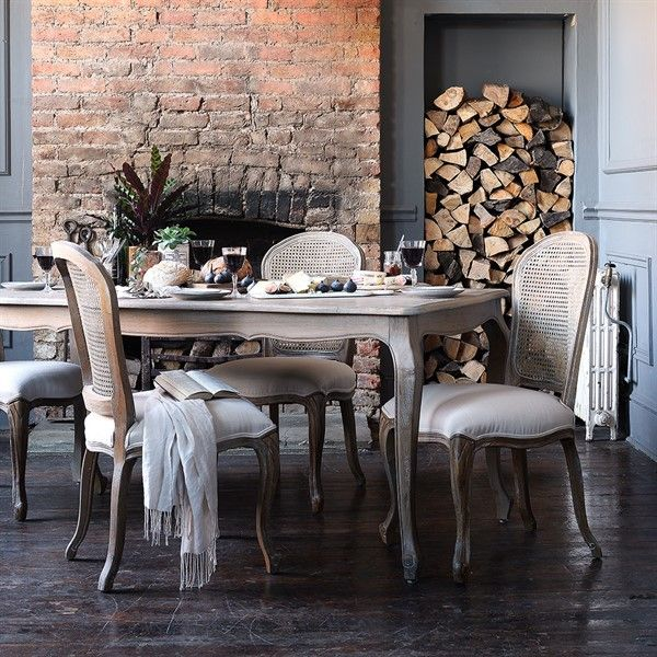 gorgeous wood and fabric dining set from the cotswold company