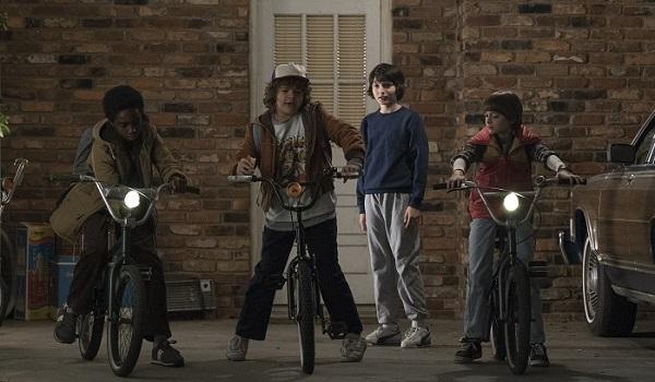 stranger things kids on bikes