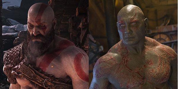 Kratos and Dave Bautista