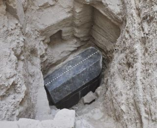 This black granite sarcophagus was found in a tomb in Alexandria, Egypt. Dating back over 2,000 years, it is the largest sarcophagus ever found in Alexandria, archaeologists believe.