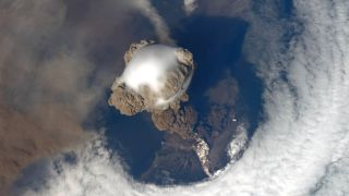 Earth from Space: Sarychev Volcano Eruption