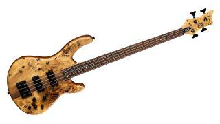 Dean Guitars' new Edge Select Burled Poplar Satin Natural bass