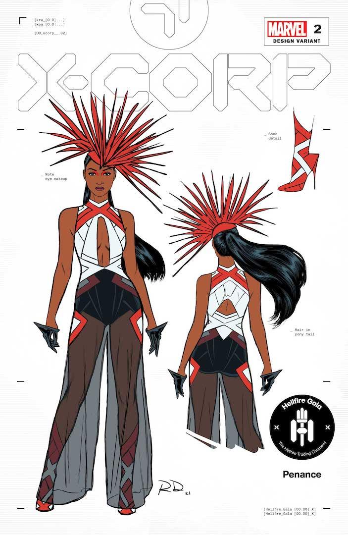 Diseños de trajes de gala Hellfire por Russell Dauterman