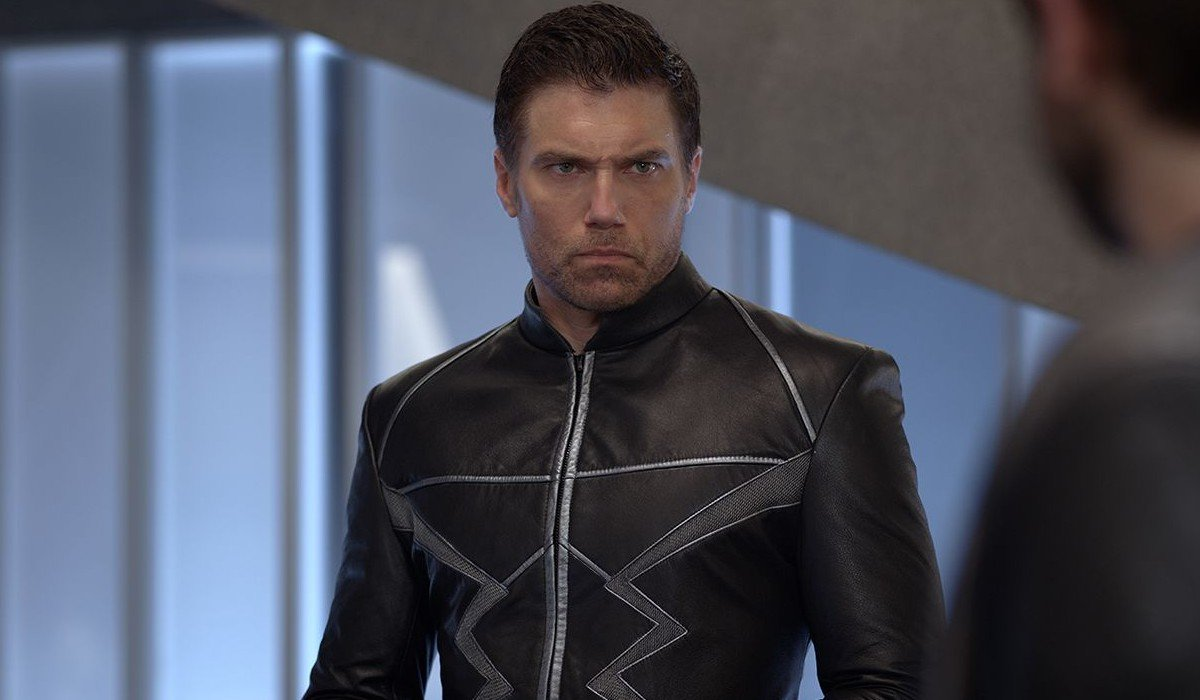 Black Bolt staring disapprovingly