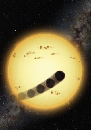 Some hot Jupiter alien planets orbit very close to the star and in a direction opposite to the stellar rotation.
