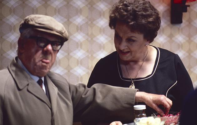 Classic Coronation Street Jack Howarth (as Albert Tatlock) and Betty Driver (as Betty Turpin)