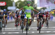 Peter Sagan (Liquigas-Cannondale) wins stage 6 of the Tour de France in Metz