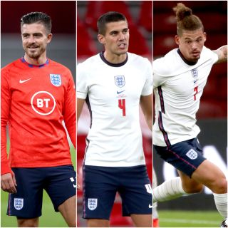 Jack Grealish, Conor Coady and Kalvin Phillips made their England debuts against Denmark