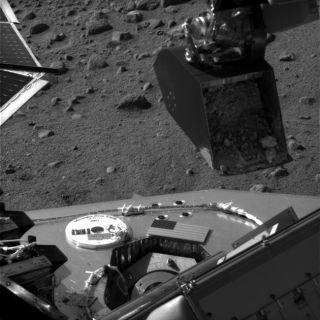 Phoenix Takes First Martian Soil Sample