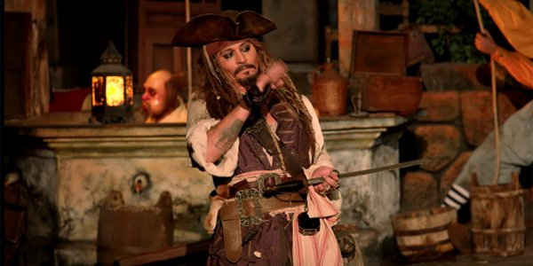 johnny depp in pirates of the caribbean ride