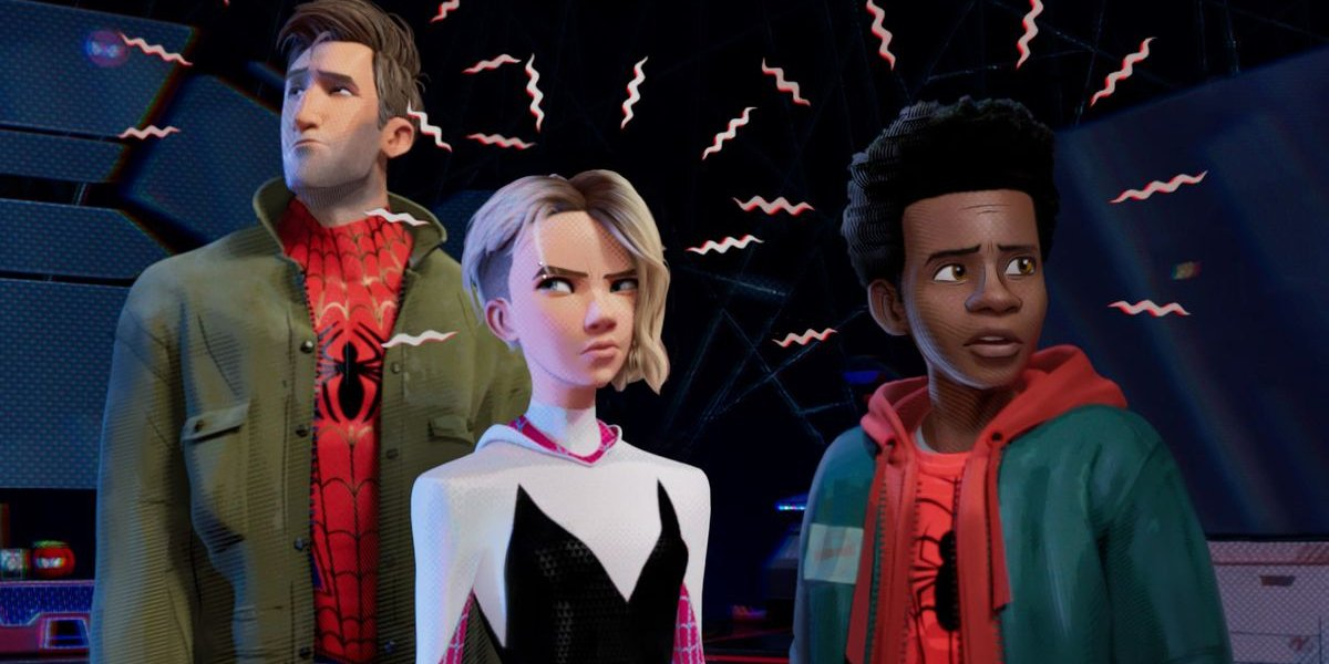 Spider-Man: Into The Spider-Verse Peter B Parker, Gwen Stacy, and Miles Morales' Spidey-Sense going