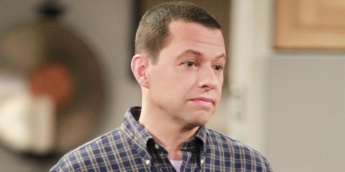 Alan Harper looks away on Two and a Half Men