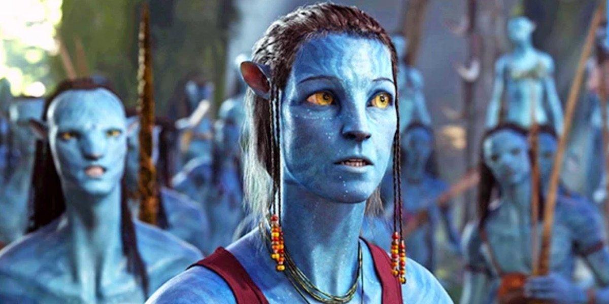 Sigourney Weaver in her Avatar in Avatar
