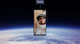 "Actor and model Cara Delevingne was the first to send her selfie into the stratosphere with Samsung's ""SpaceSelfie"" device, which crash-landed on a farm in Michigan this past weekend on Oct. 26."