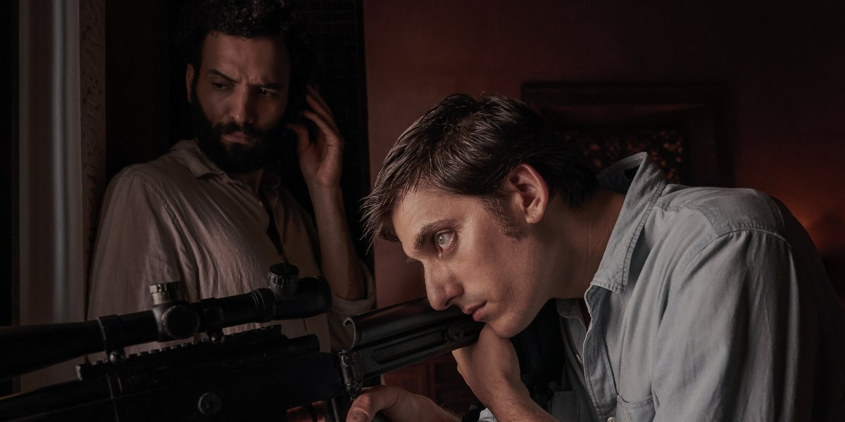 Marwan Kenzari and Luca Marinelli in The Old Guard