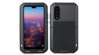 Front and back views of the Love Mei Powerful Case for Huawei P20 Pro