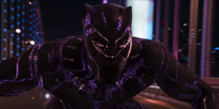 Black Panther during a car chase