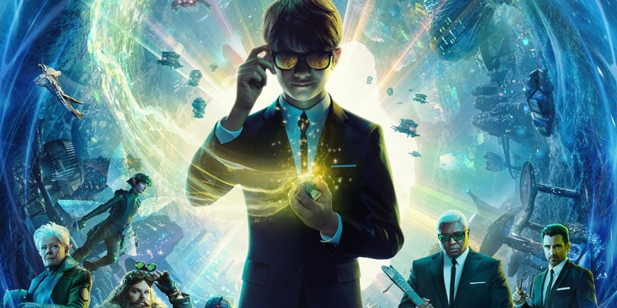 Artemis Fowl and his friends lined up in front of glowing chaos