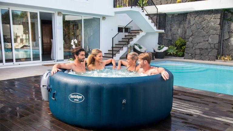 Hot tub deals: Bestway SaluSpa Milan Airjet Plus Portable Round Inflatable Hot Tub Spa