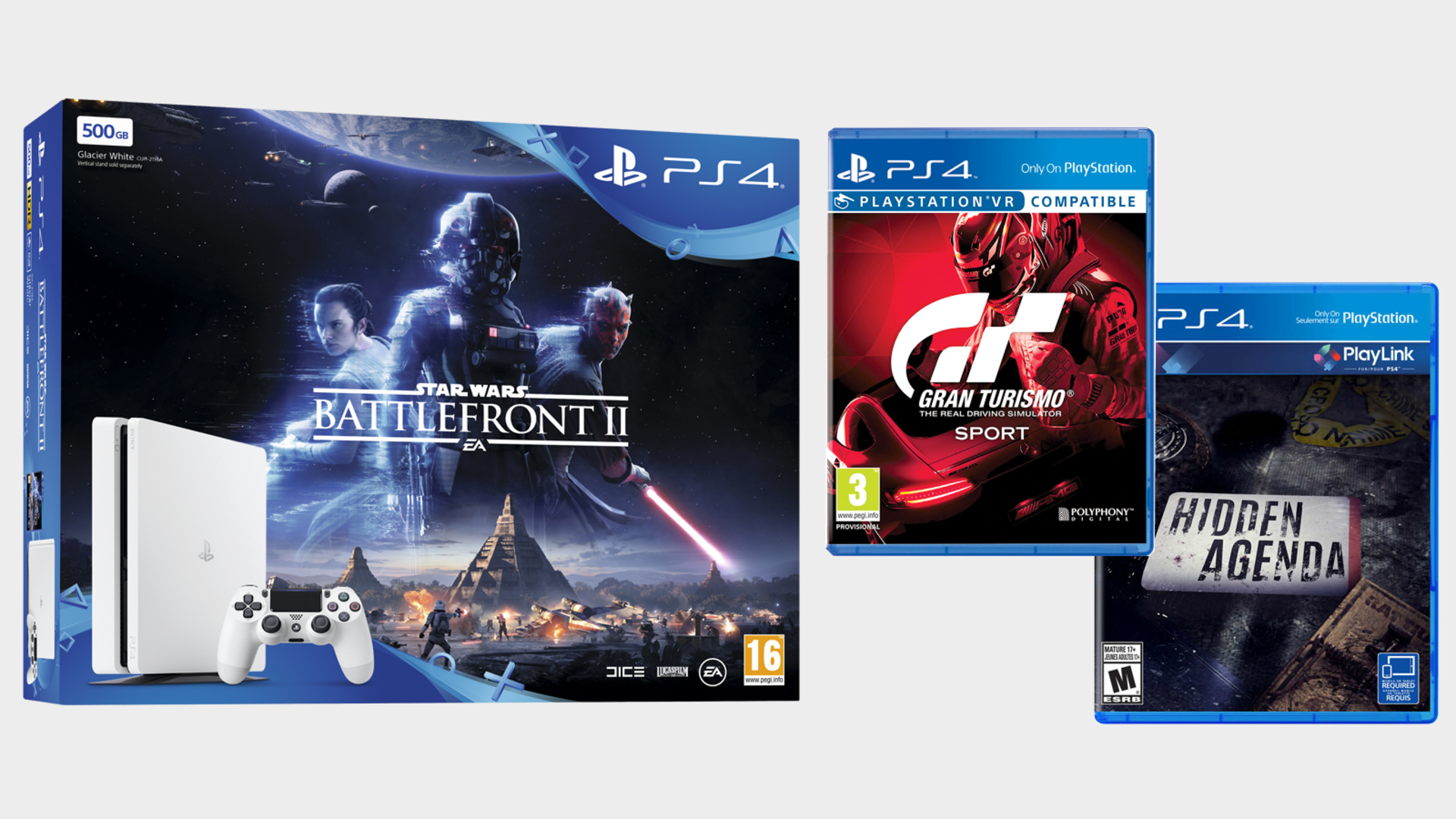 3946e04d061 This Star Wars Battlefront 2 PS4 pack comes with GT Sport and Hidden Agenda  for only £199.99