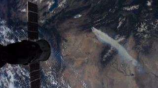 NASA video still of Colorado wildfires as seen from space station on June 28, 2012.