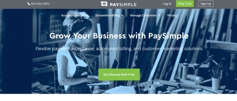 PaySimple credit card processing