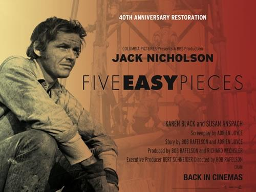 Five Easy Pieces - 40th anniversary restoration of Bob Rafelson's cult 1970 film starring Jack Nicholson