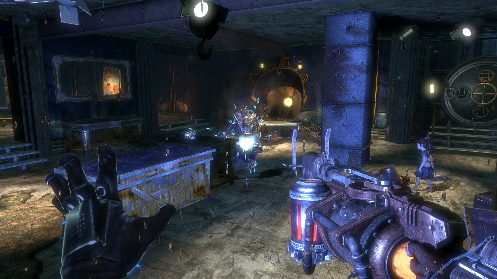 BioShock 2 Rivet Gun from first-person perspective