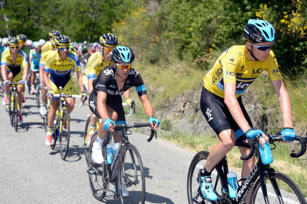Chris Froome on stage four of the 2014 Criterium du Dauphine