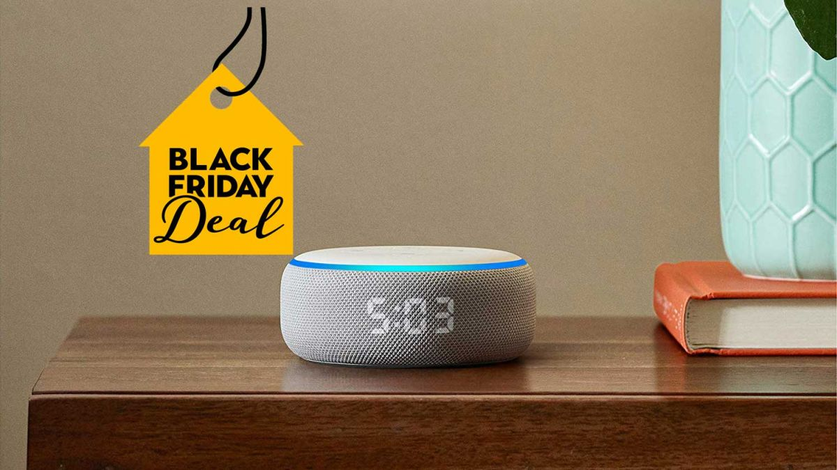 The Echo Dot with clock has £25 off for Cyber Monday stock is LIMITED!