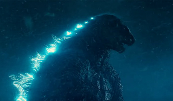 Godzilla glowing