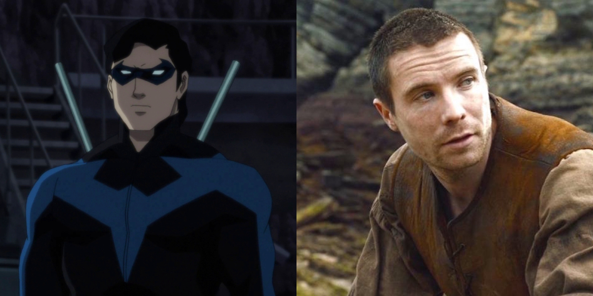 Nightwing and Joe Dempsie in Game Of Thrones