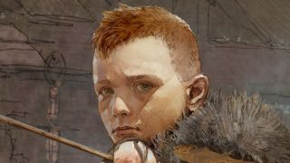 A close-up illustration of Atreus from God of War.