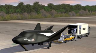 The Dream Chaser space plane is designed to return cargo to Earth by landing on a runway, allowing for rapid access.
