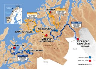 The 2020 Arctic Race of Norway route overview