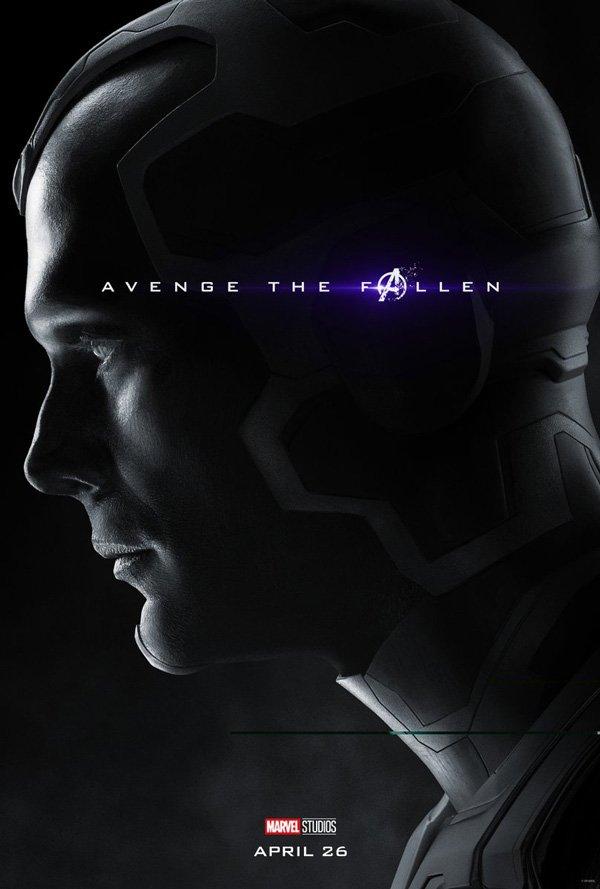 vision in official avengers: endgame poster