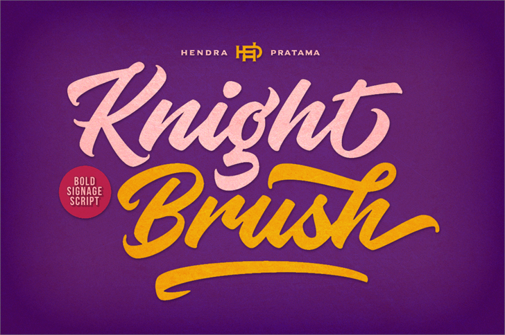 Free graffiti fonts: Knight Brush