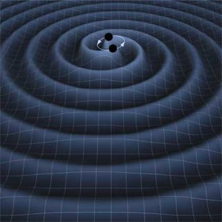 Circling Black Holes Create Gravitational Waves