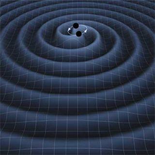 Circling Black Holes Create Gravitational Waves